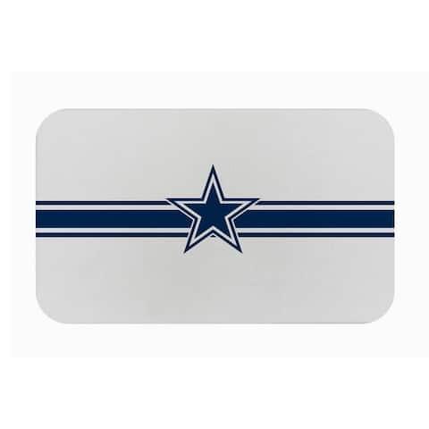 """Fanmats NFL Dallas Cowboys Sports Team Logo Burlap Comfort Mat - 29"""" x 18"""" x 0.5"""""""