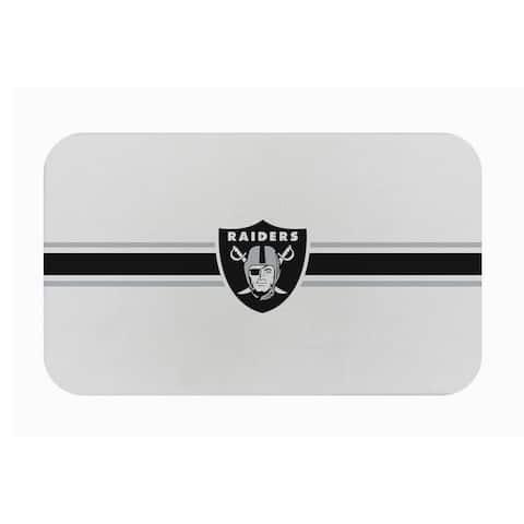 "Fanmats NFL Oakland Raiders Sports Team Logo Burlap Comfort Mat - 29"" x 18"" x 0.5"""