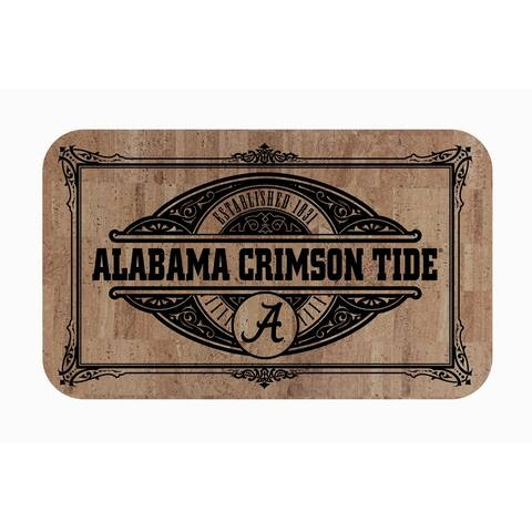 "Fanmats NCAA University of Alabama Sports Team Logo Cork Comfort Mat - 18"" x 30"""