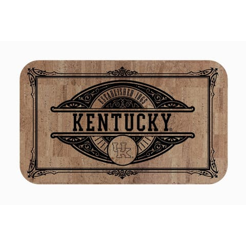 "Fanmats NCAA University of Kentucky Sports Team Logo Cork Comfort Mat - 18"" x 30"""