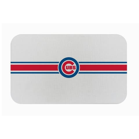 "Fanmats MLB Chicago Cubs Sports Team Logo Burlap Comfort Mat - 29"" x 18"" x 0.5"""
