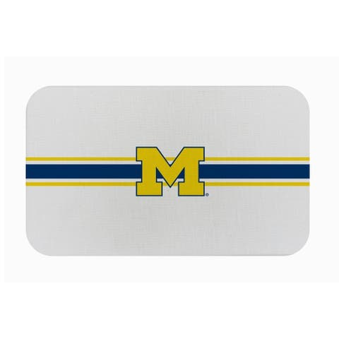 "Fanmats NCAA University of Michigan Sports Team Logo Burlap Comfort Mat - 29"" x 18"" x 0.5"""