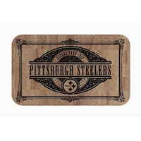 "Fanmats NFL Pittsburgh Steelers Sports Team Logo Cork Comfort Mat - 18"" x 30"""
