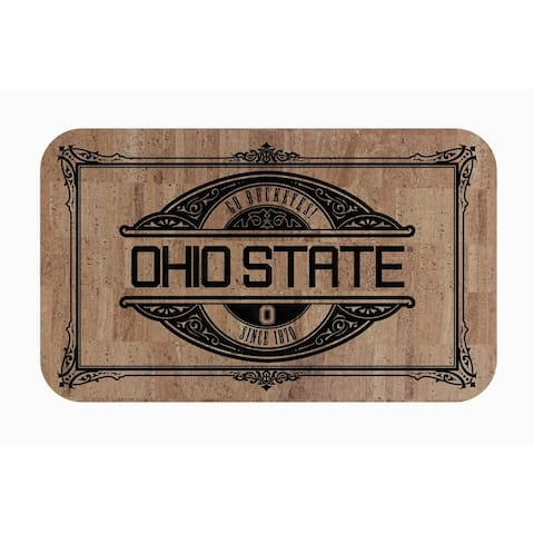 "Fanmats NCAA Ohio State University Sports Team Logo Cork Comfort Mat - 18"" x 30"""