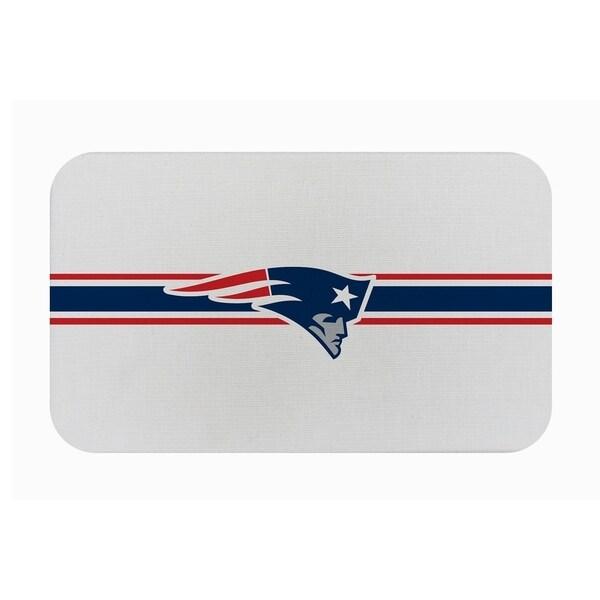 "Fanmats NFL New England Patriots Sports Team Logo Burlap Comfort Mat - 29"" x 18"" x 0.5"". Opens flyout."