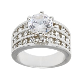 2 43ct Silver Or Gold Overlay CZ Ring By Simon Frank Designs
