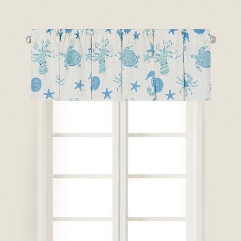 Brisbane Cotton Window Curtain Valance Set of 2 - 15.5 x 72