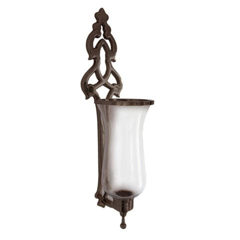 French Hurricane Sconce Bronze