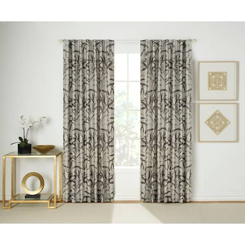 "Porch & Den Walteria Tropical Room-darkening Curtain Panel Pair - 54"" x 84"""