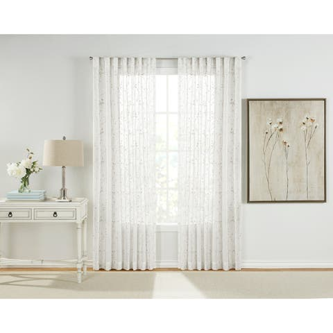 "Francis Pocket Rod Sheer Drapery Panel - Pair - 54"" x 84"""