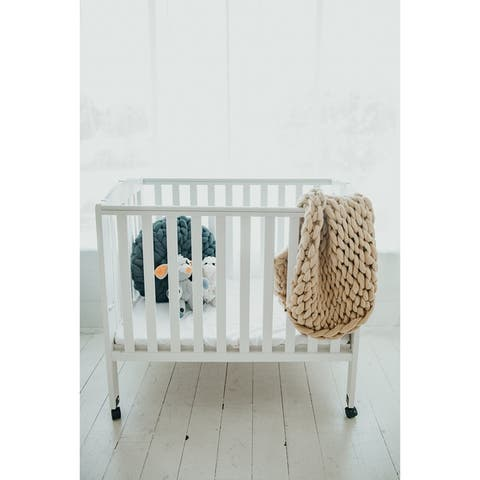 Lane and Mae Chunky Knit 100% Merino Wool Baby Blanket