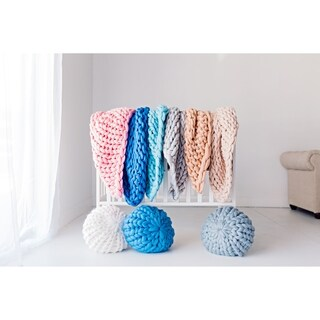 Link to Lane and Mae Chunky Knit 100% Merino Wool Baby Blanket Similar Items in Baby Blankets