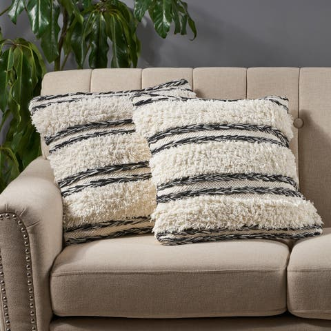 Aldine Boho Cotton Pillow Cover (Set of 2) by Christopher Knight Home
