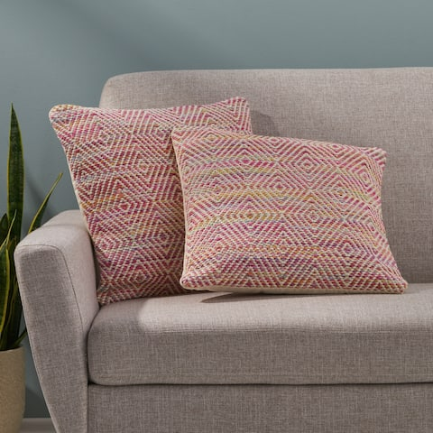 Beacon Boho Cotton Pillow Cover (Set of 2) by Christopher Knight Home