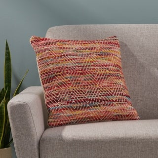 Beaubien Boho Cotton and Wool Pillow Cover by Christopher Knight Home