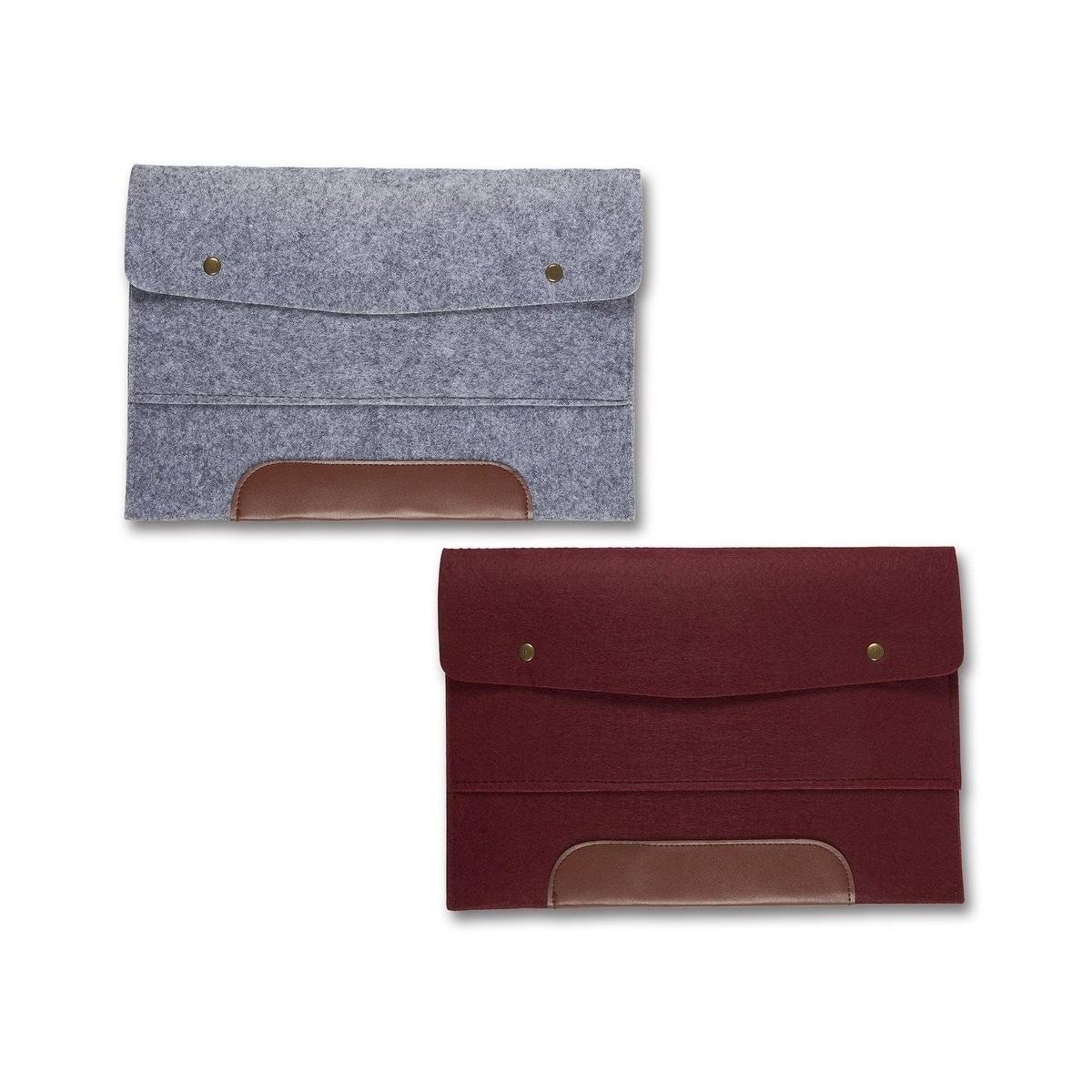 protective cover Office folder felt envelope Notebook A4 made of felt with block writing pad Filzmappe