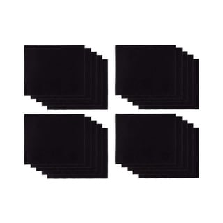 20-Pack Eyeglass Cleaning Cloth - Microfiber Lint-Free for Camera Lens, Black