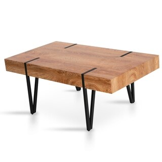 Link to Unique Coffee Table Accent Cocktail Table for Living Room Dining Room - natural Similar Items in As Is