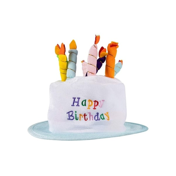 Peachy Shop Plush Happy Birthday Cake Party Hats Top Hat With Candles Funny Birthday Cards Online Aboleapandamsfinfo