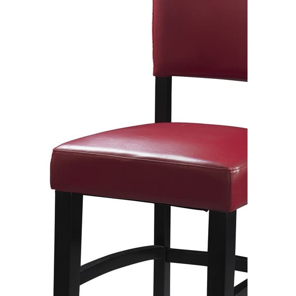 Wondrous Shop Wooden Bar Stool With Leatherette Seat And Backrest Evergreenethics Interior Chair Design Evergreenethicsorg