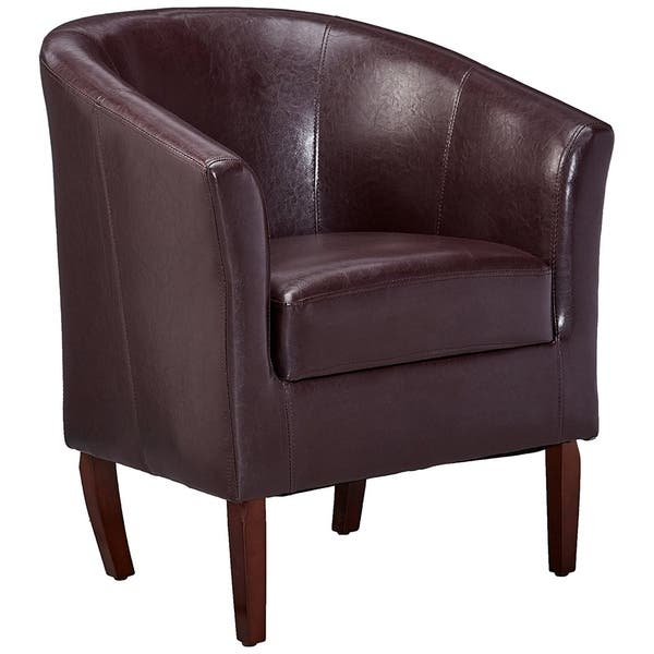 Pleasant Shop Wooden Club Chair With Faux Leather Upholstery Purple Beatyapartments Chair Design Images Beatyapartmentscom