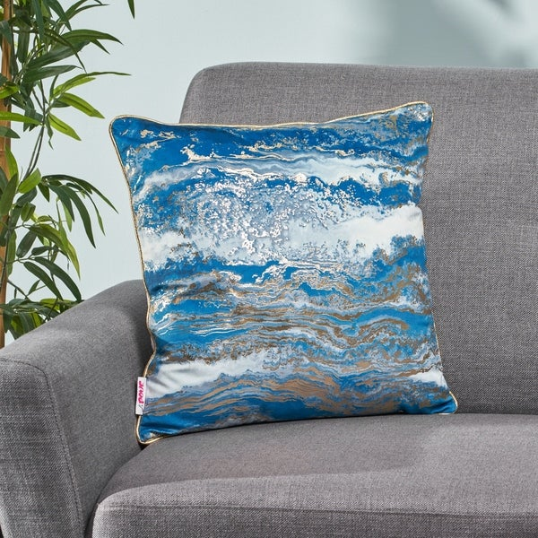 Arvonia Modern Fabric Throw Pillow Cover by Christopher Knight Home