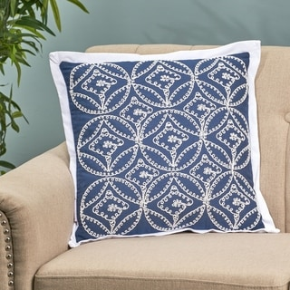 Alamar Modern Fabric Throw Pillow Cover by Christopher Knight Home