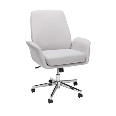 OFM Modern Fabric Upholstered Office Chair, Cushioned Arm Chair