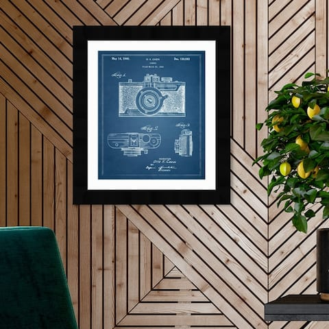 Oliver Gal '1B00256 Cazin Design for a' Entertainment and Hobbies Framed Blueprint Wall Art - Blue, White