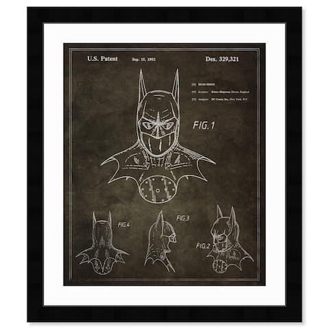 Oliver Gal 'Batman, 1992' Movies and TV Framed Blueprint Wall Art - Black, White