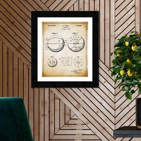 Oliver Gal 'Basket Ball 1929' Sports and Teams Framed Blueprint Wall Art - Brown, Black