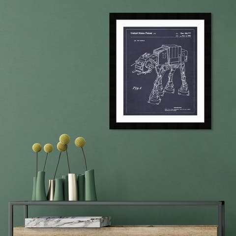 Oliver Gal 'Toy Vehicle, 1982' Movies and TV Framed Blueprint Wall Art - Blue, White