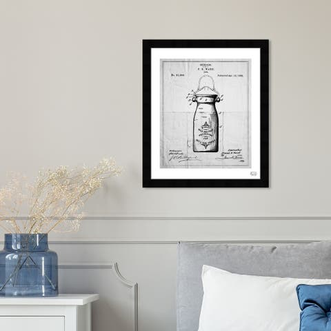 Oliver Gal 'Preserving Jar 1892' Food and Cuisine Framed Blueprint Wall Art - Black, Gray