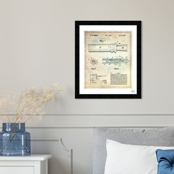 Oliver Gal 'Duck Caller 1977' Symbols and Objects Framed Blueprint Wall Art - Brown, Black