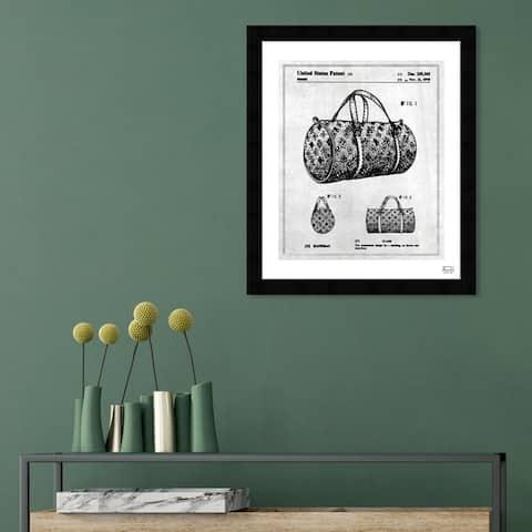 Oliver Gal 'Handbag 1978' Fashion and Glam Framed Blueprint Wall Art - Black, White