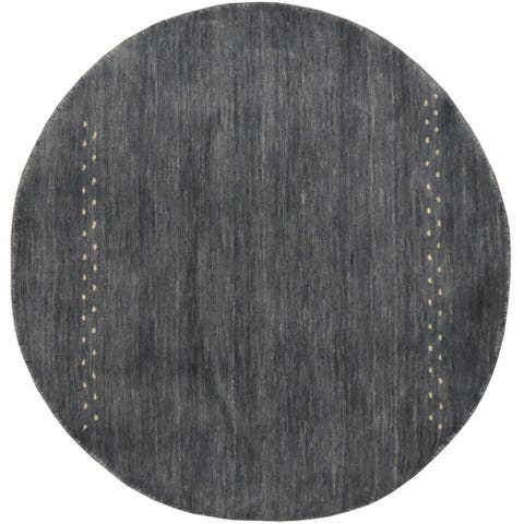 Handmade One-of-a-Kind Gabbeh Wool Rug (Iran) - 3' x 3'