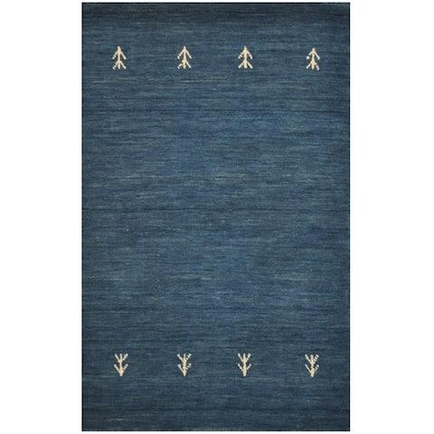 Handmade Gabbeh Wool Rug (India) - 2' x 3'