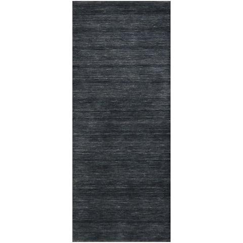 Handmade One-of-a-Kind Gabbeh Wool Runner (India) - 2'1 x 5'1