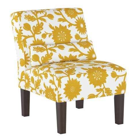 Skyline Furniture Armless Chair in Gardenia Gold