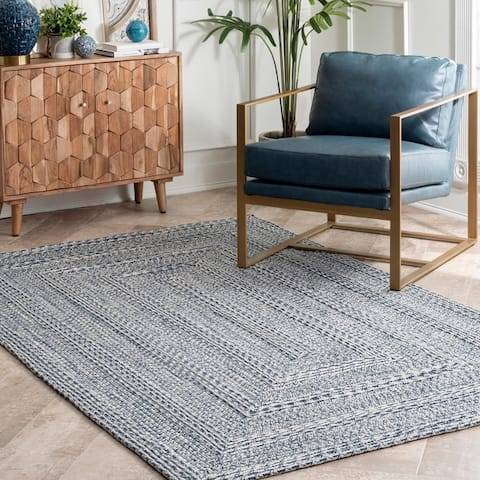 nuLOOM Braided Texture Indoor/ Outdoor Solid Area Rug