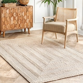The Curated Nomad Whitecliff Texture Indoor/ Outdoor Solid Area Rug
