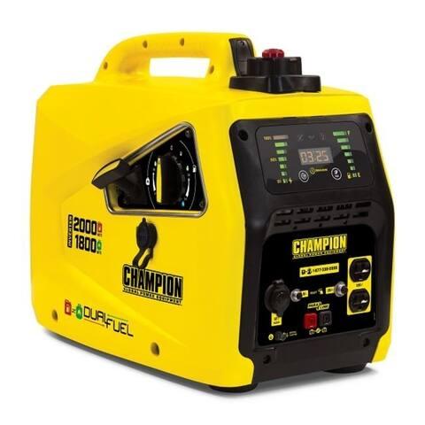 Champion 2000-Watt Dual Fuel Parallel Ready Portable Inverter Generator