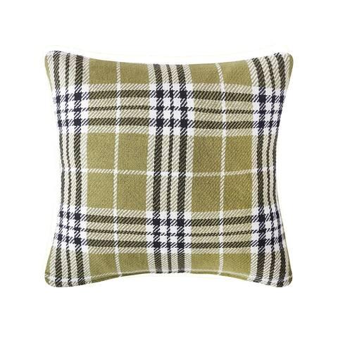 Max Plaid Tarragon 18 x 18 Decorative Accent Throw Pillow