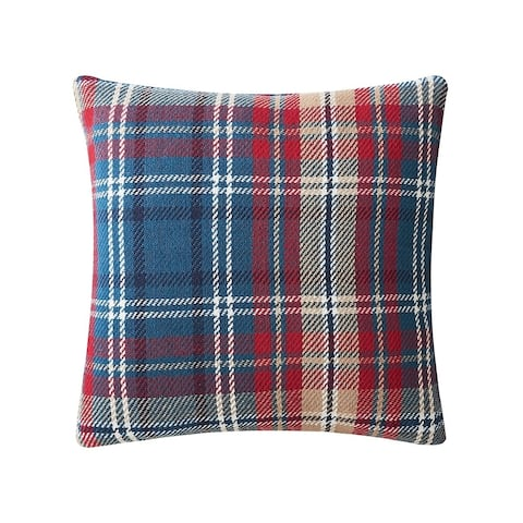 Rockwell Plaid 18 x 18 Decorative Accent Throw Pillow