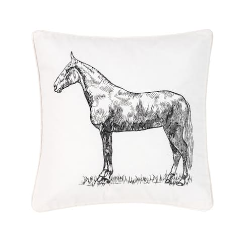 Barnyard Farmhouse 18 x 18 Cotton Pillow
