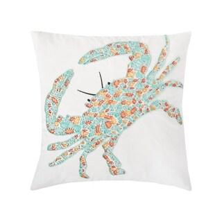 Grand Turks Coastal Embroidered 18 x 18 Pillow