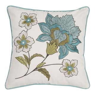 Adrienne Meadow Embroidered 18 x 18 Pillow