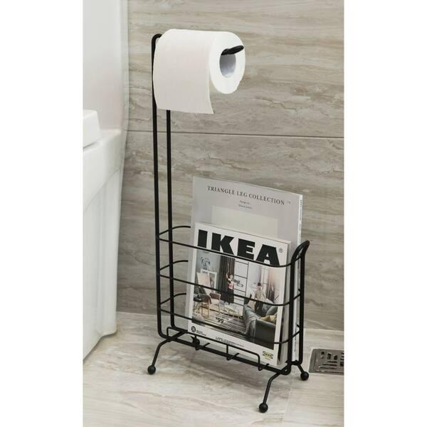 Toilet Paper Holder With Magazine Rack
