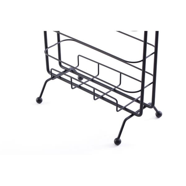 Shop Metal Toilet Paper Holder With Magazine Rack On Sale