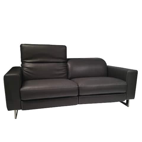 Lucia White Leather Sofa
